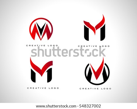 Letter M Abstract Logo Concept Design Download Free Vector Art