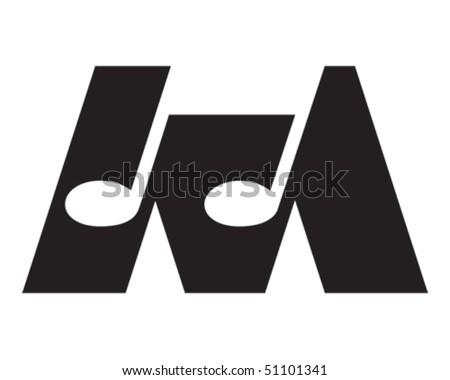 letter m logo. stock vector : Letter M -