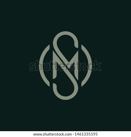 Letter M S icon logo design template.creative initial S M symbol Foto stock ©