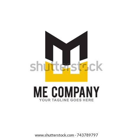 letter ME Logo Design Vector Illustration Stok fotoğraf ©