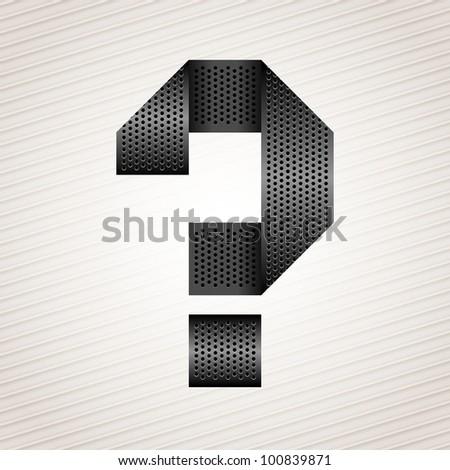 Letter metal ribbon - question mark