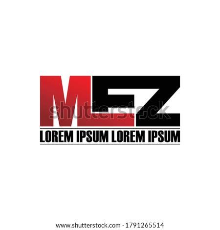 Letter MEZ simple logo design vector Stock fotó ©