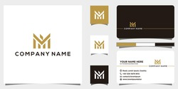 Letter MF Logo have a luxury, unique, simple and clever style. Logo design and business card. suitable for your brand, business, real estate, company, financial services