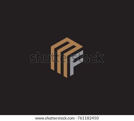 Letter MF logo template. hexagon logo Stock fotó ©
