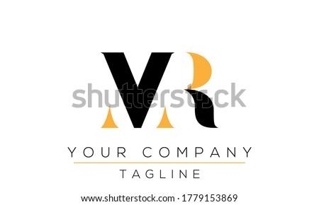 Letter MR Logo Design, Creative Modern Icon RM M R  Stock fotó ©