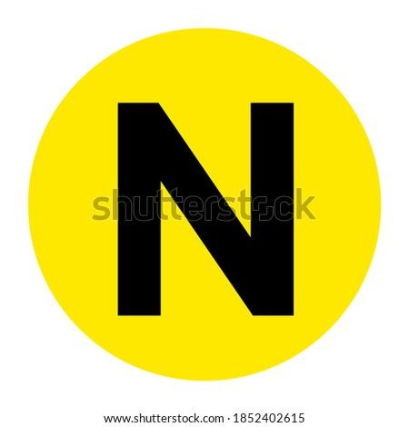 Letter N Floor Marker Symbol, Vector Illustration, Isolate On White Background Label. EPS10 Foto stock ©