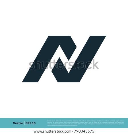 Letter N Icon Vector Logo Template Illustration Design. Vector EPS 10. Stock fotó ©