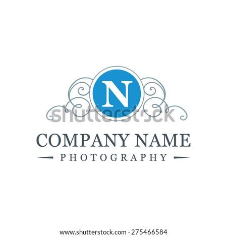 letter n logo   creative blue