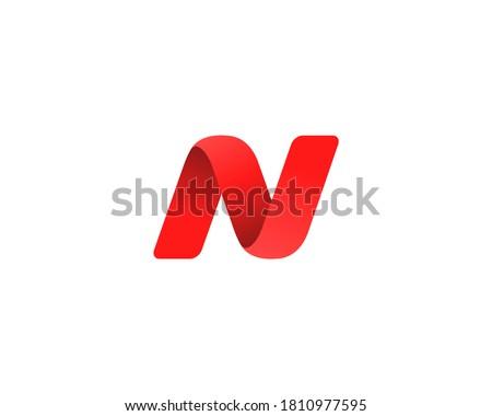 Letter N logo icon design template elements Stock fotó ©