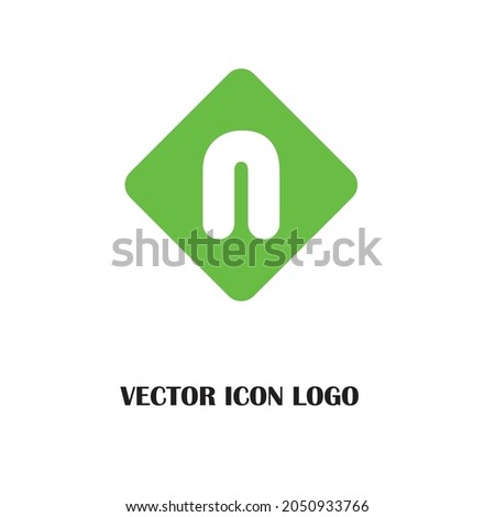 Letter N logo icon design template elements Foto stock ©