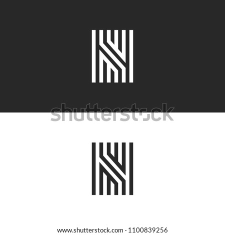 Letter N logo icon vector linear maze design. Refined print creative ornate monogram initial sign identity symbol.