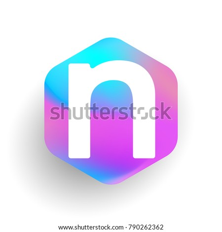 letter n logo in hexagon shape