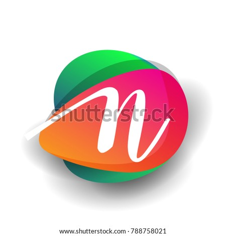 letter n logo with colorful