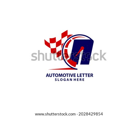 Letter N speedometer logo design Foto stock ©
