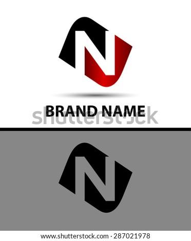 Letter n Vector elegant alphabet symbol   Foto stock ©