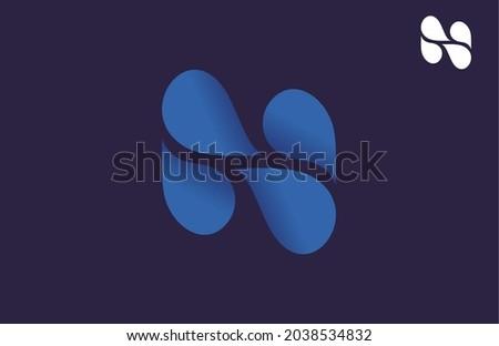 Letter N Water Drop Logo Illustration Foto stock ©