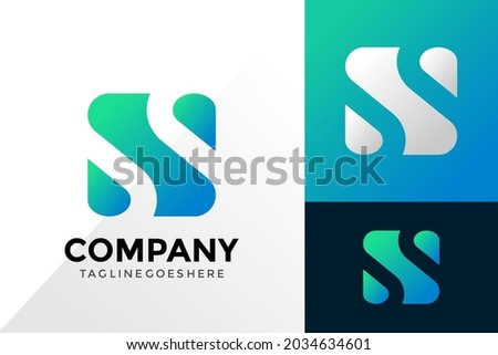 Letter N Water Logo Design, Abstract Logos Designs Concept for Template Foto stock ©