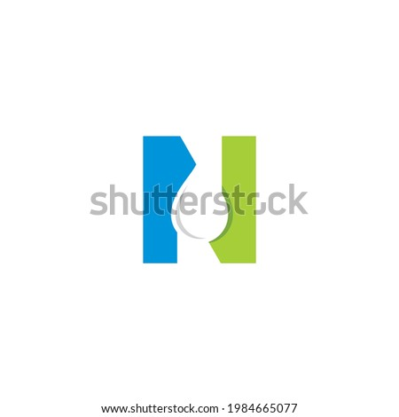 Letter N With Water Drop Logo Vector  Foto stock ©