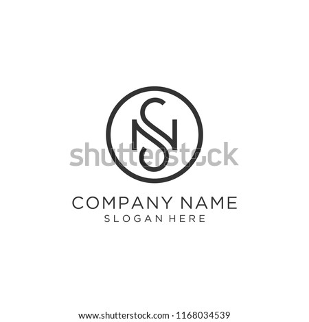 Letter NS logo design Stock fotó ©