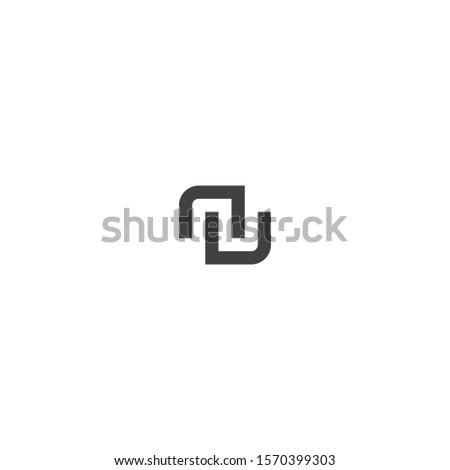 Letter NU Logo Design, Concept Letter N + U Simple Monogram. Foto stock ©
