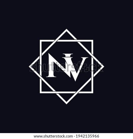 Letter NV luxury logo design vector Imagine de stoc ©