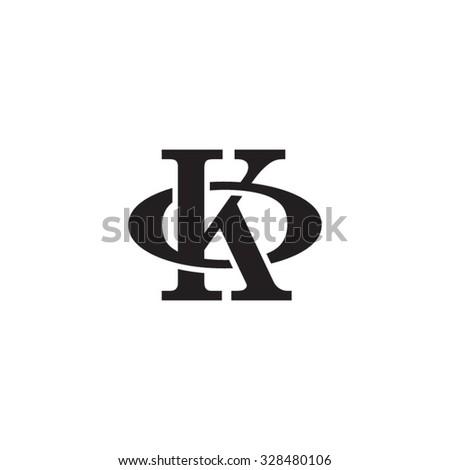 letter O and K monogram logo Zdjęcia stock ©