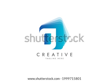Letter O Digital Media Logo, Isolated with pile of digital software data, Vector template logo. Foto stock ©