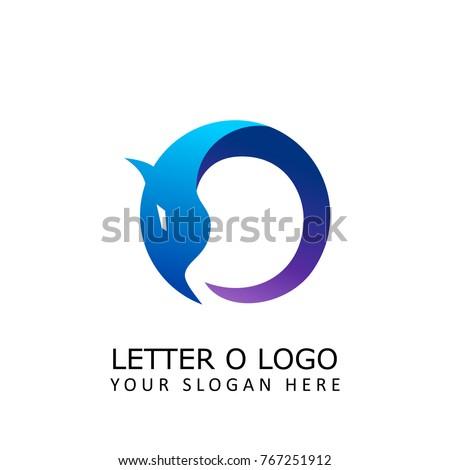 letter o dragon logo
