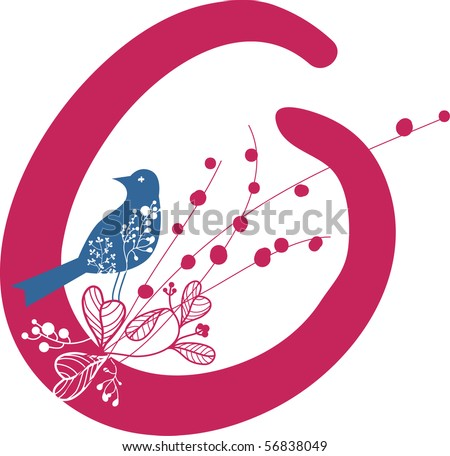 Letter O In Flor...O Design Letter