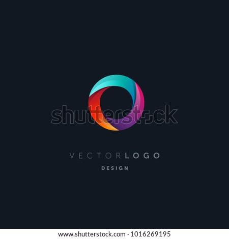Letter O logo, multi colour letter icon vector template.   Foto stock ©