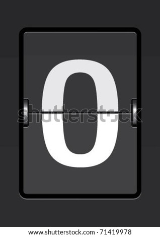 stock vector : letter  o on a mechanical timetable
