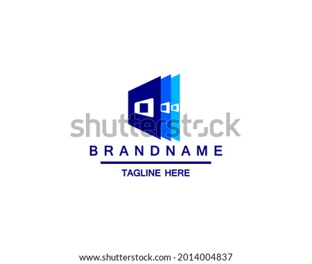 Letter O with book or paper logo template. Suitable for business, web, education, online store, and identity symbol Foto stock ©