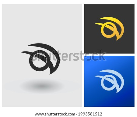 Letter OV monogram initial logo template Stock fotó ©