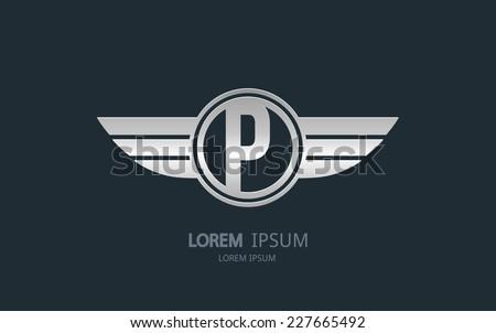 letter p logo alphabet