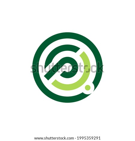 Letter P logo. Rounded letter P for business and consulting industries Zdjęcia stock ©