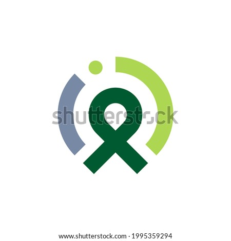 Letter P logo. Rounded letter P for business and consulting industries. Ribbon logo template. Zdjęcia stock ©