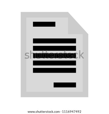 letter page. text document icon - web page symbol - office file format