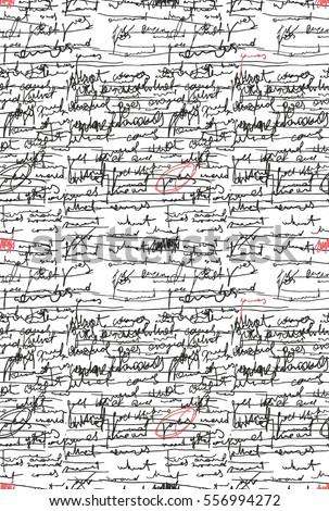 letter pattern script seamless