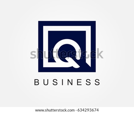 clean dark business card with letter q download free vector art