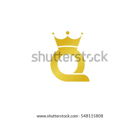 Letter Q Queen Logo Design Element