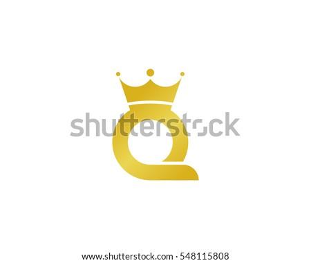 Letter Q Queen Logo Design Element