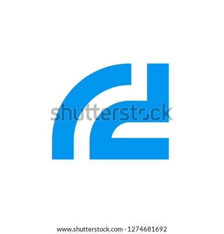 Letter r d vector logo, Initial alphabet rd Logotype Stock fotó ©