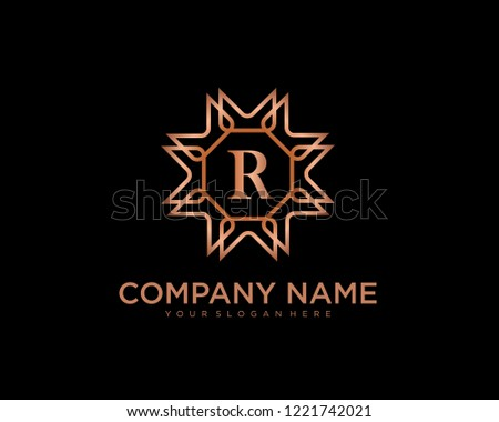 letter r logo design template luxury vector