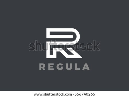 4f875471bed Letter R Logo Luxury design vector template Linear. Type Character Symbol  Logotype