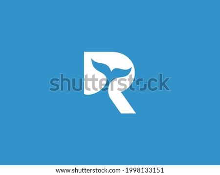letter R ocean logo design template Photo stock ©