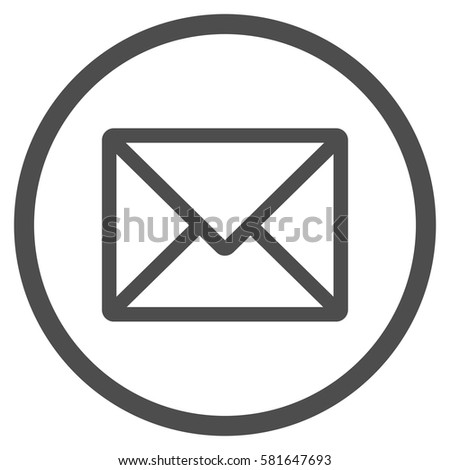 letter rounded icon vector