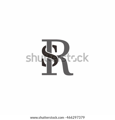 letter s and r logo vector