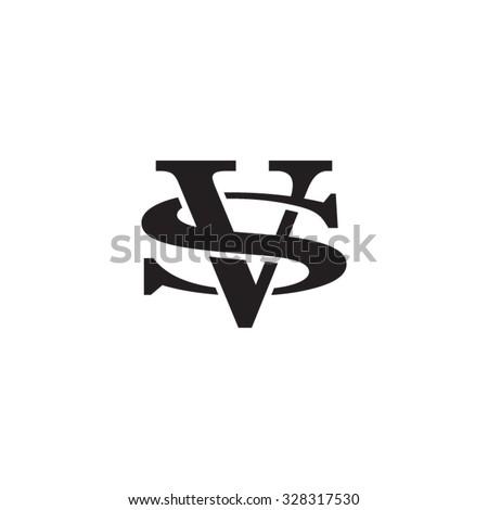 Letter S And V Monogram Logo