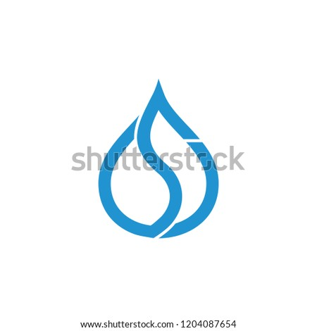 letter s drop water abstract logo