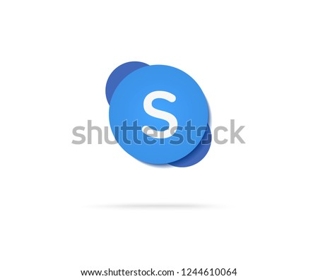 letter s in blue shape vector